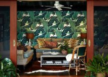 Sliding-glass-doors-for-the-tropical-living-room-with-a-brilliant-wallpapered-backdrop-217x155