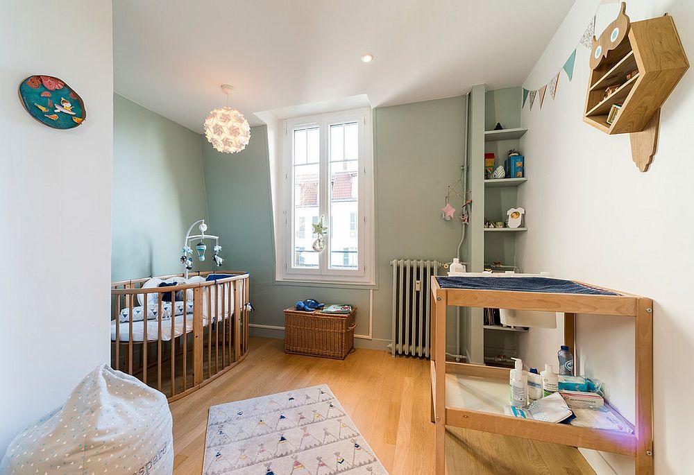 Smart traditional nursery in pastel green