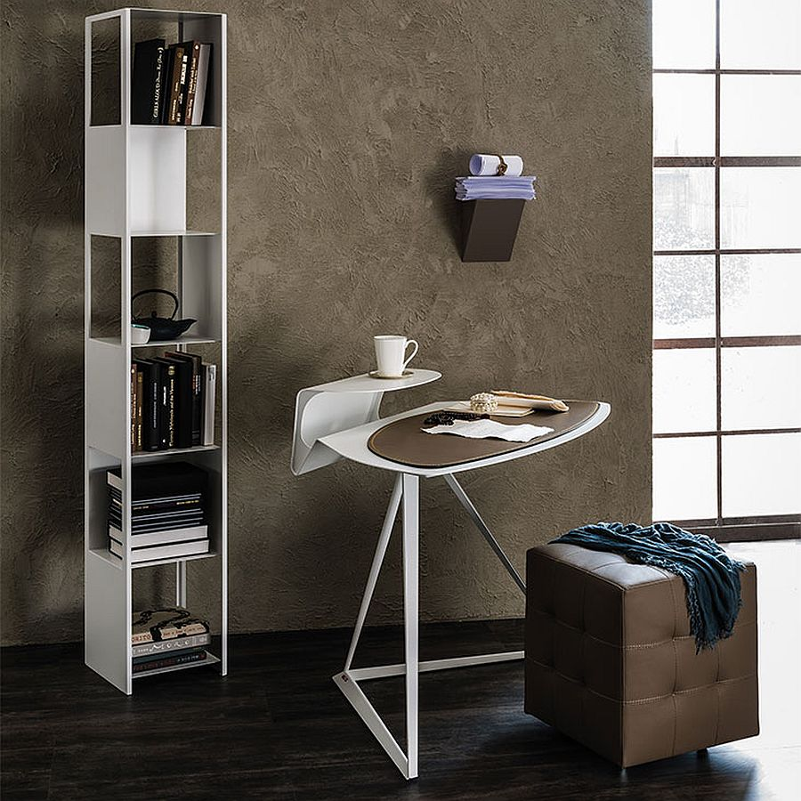 Space-savvy contemporary desk for the small home office