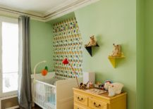 Space-savvy-contemporary-nursery-with-accent-green-wall-217x155