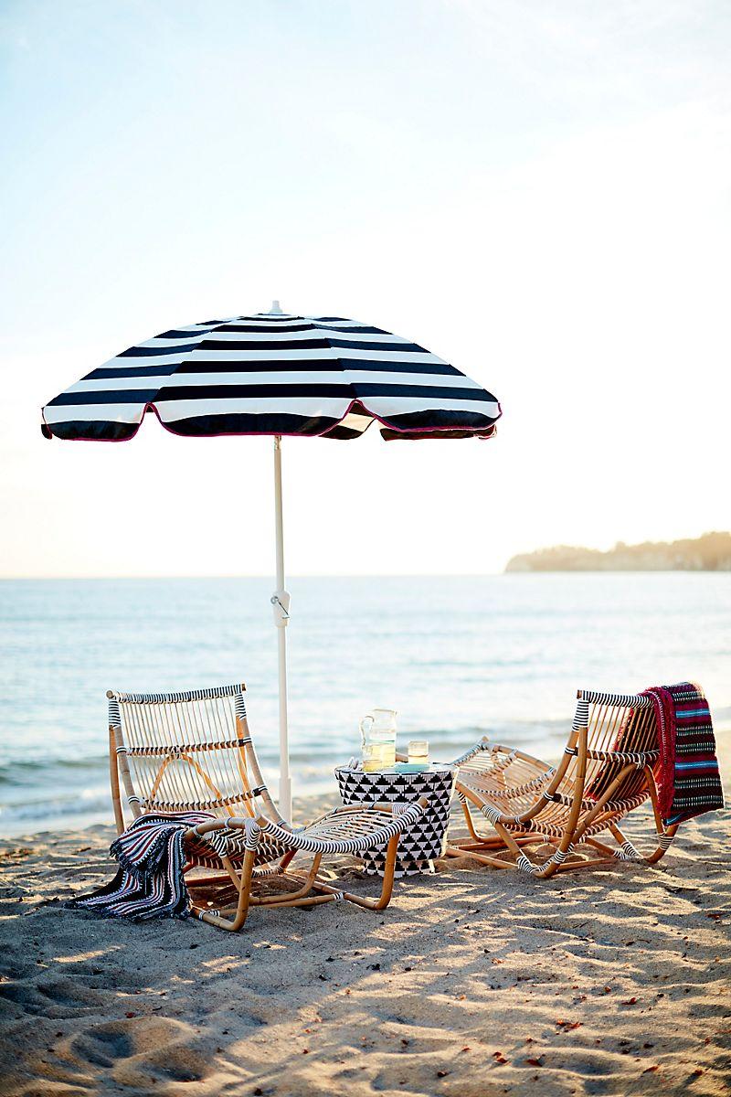 Striped-umbrella-with-pink-trim