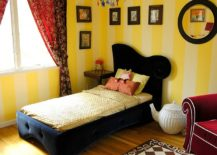 Striped-walls-in-yellow-for-the-modern-girls-bedroom-217x155