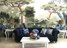 Stunning-wall-mural-in-the-modern-living-room-with-tropical-style-217x155