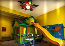 Super-fun-eclectic-kids-room-in-yellow-with-slide-and-playroom-217x155