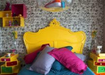 Tiny-kids-bedroom-full-of-eclectic-beauty-and-yellow-and-pink-pops-217x155