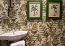 Tropical-powder-room-with-an-equally-vibrant-wallpaper-217x155