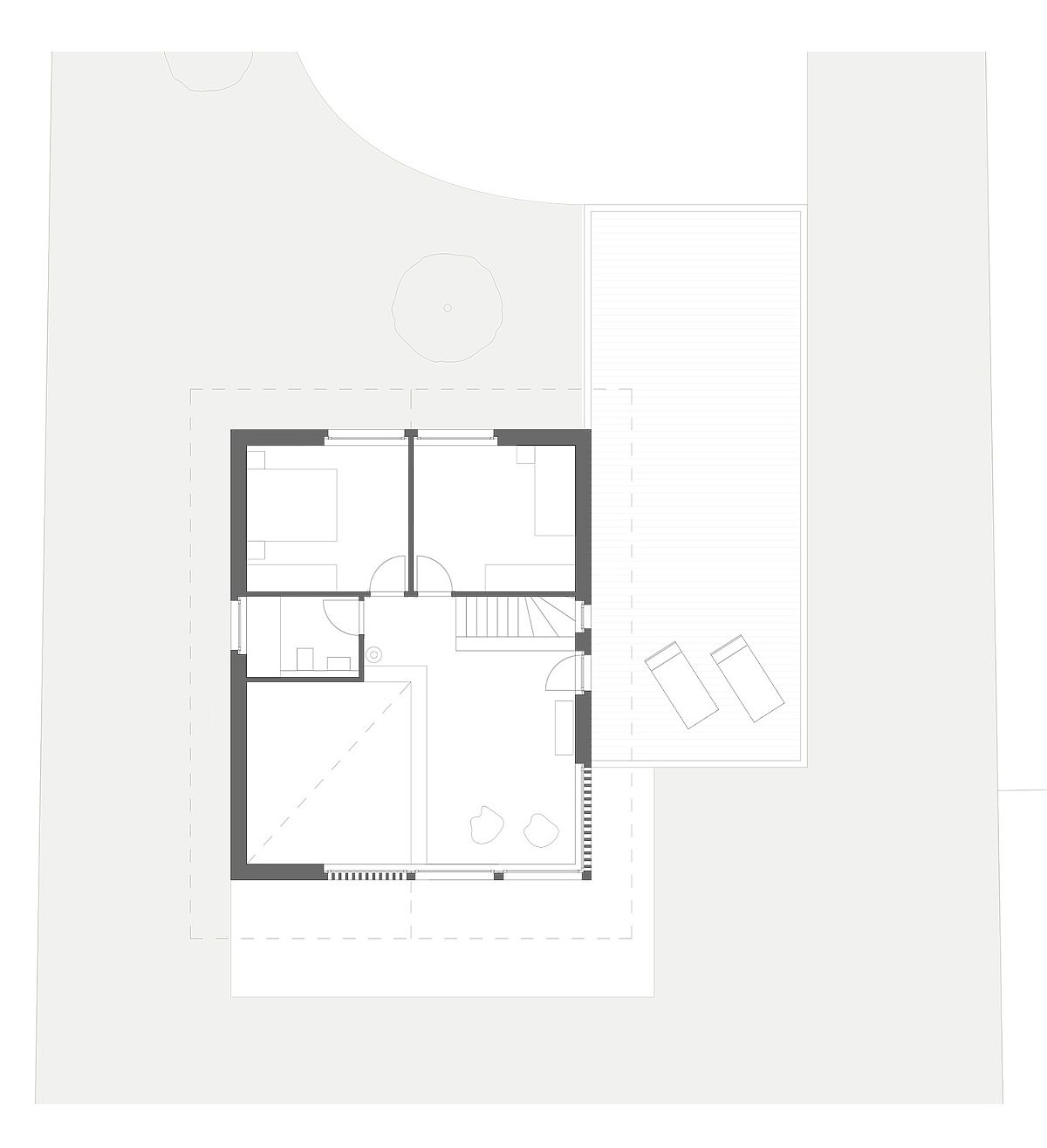 Upper-level-floor-plan-of-Swiss-home-with-valley-view