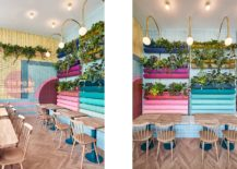 Use-of-colorful-rainbow-cushions-shaped-like-bread-loafs-gives-the-interior-a-charming-vibe-217x155