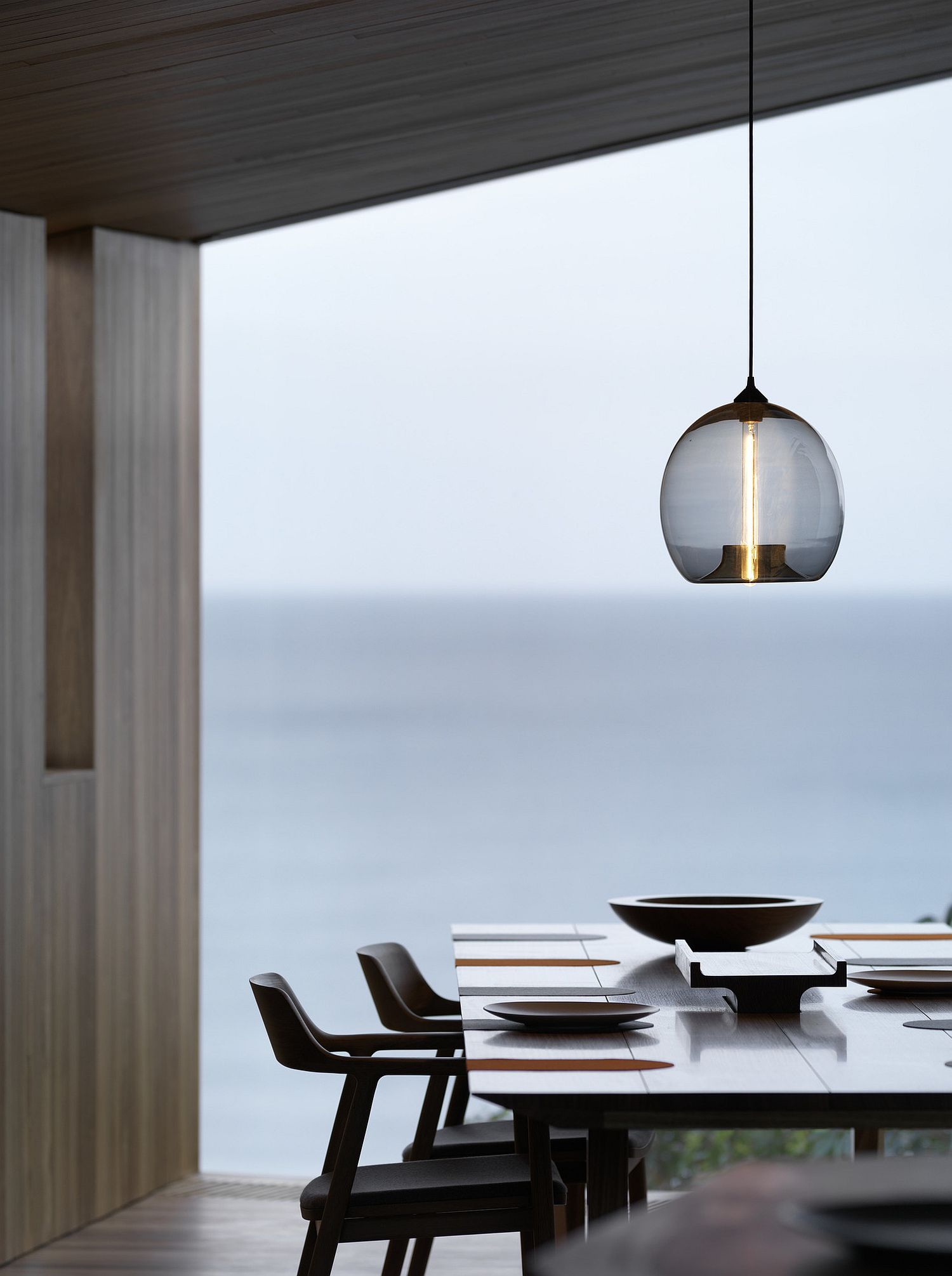 View of the Ocean from the minimal and cozy dining area