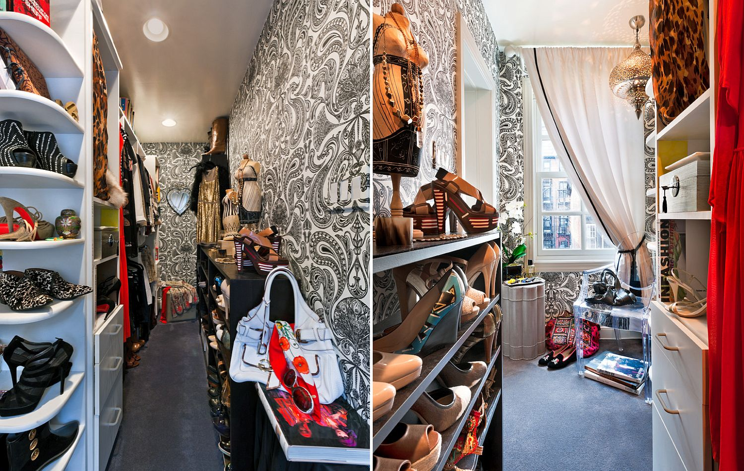 Wallpaper-brings-pattern-to-this-eclectic-chic-walk-in-closet