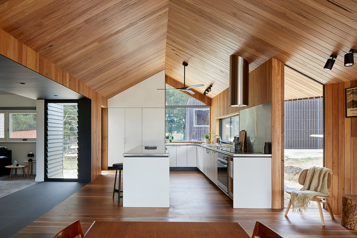 White-and-wood-kitchen-of-the-Victorian-home-extension