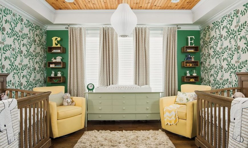 A Trendy Tinge of Freshness: Gorgeous Green Nursery Ideas