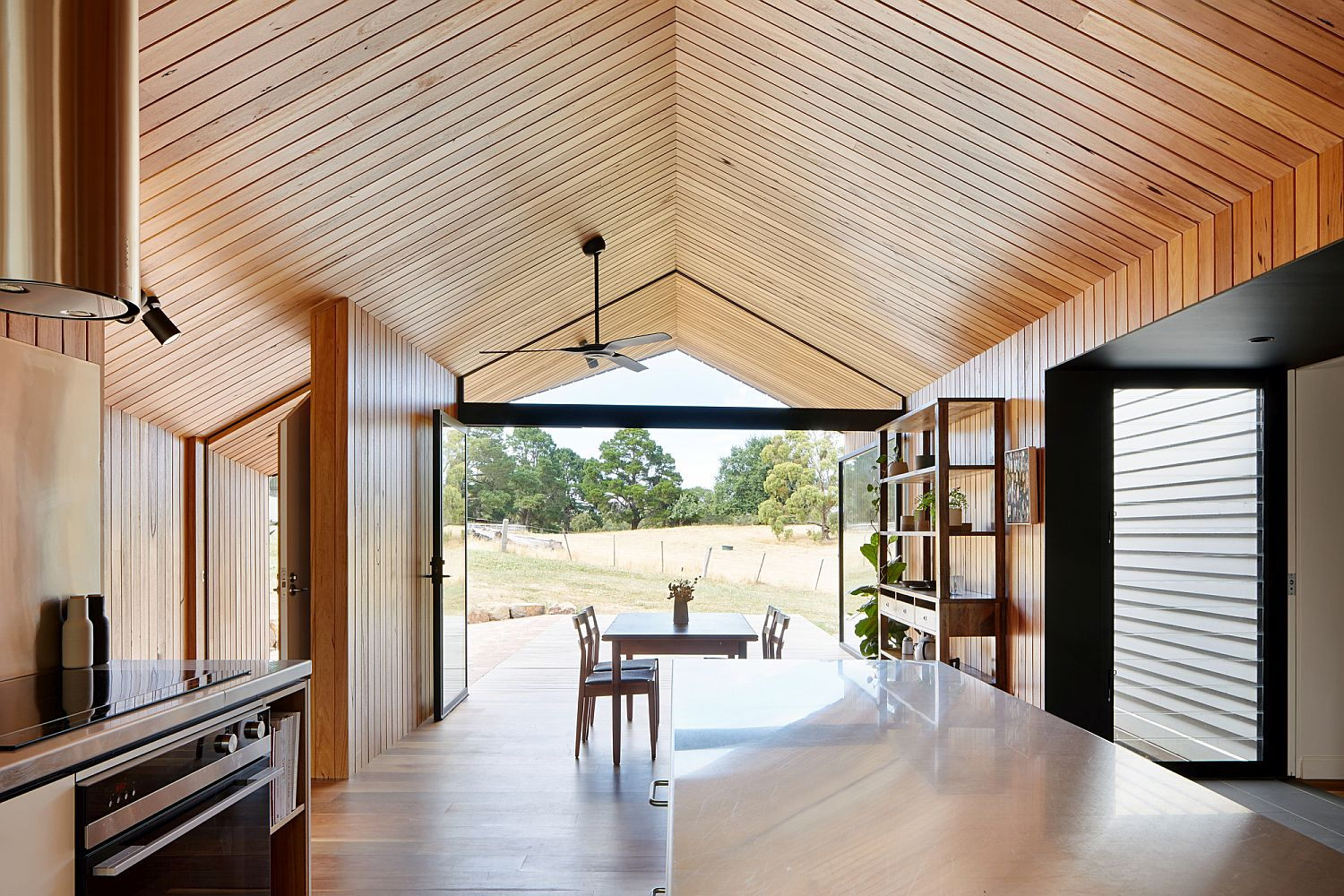 Woodsy-silvertop-ash-lining-boards-shape-the-interior-of-the-extension