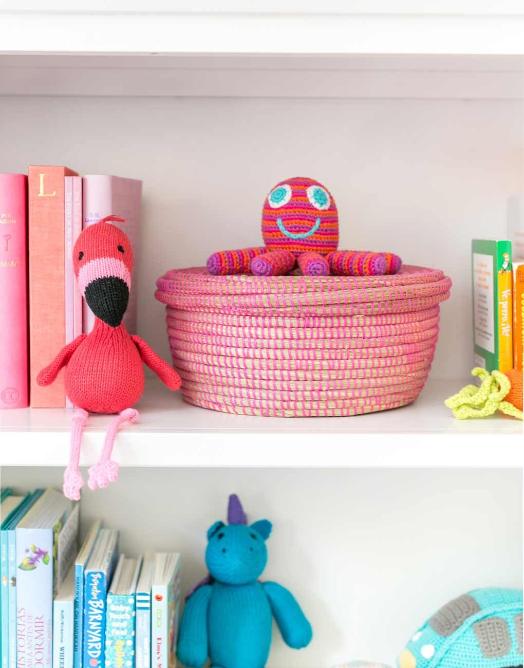 Woven baskets are a great option for kids' rooms