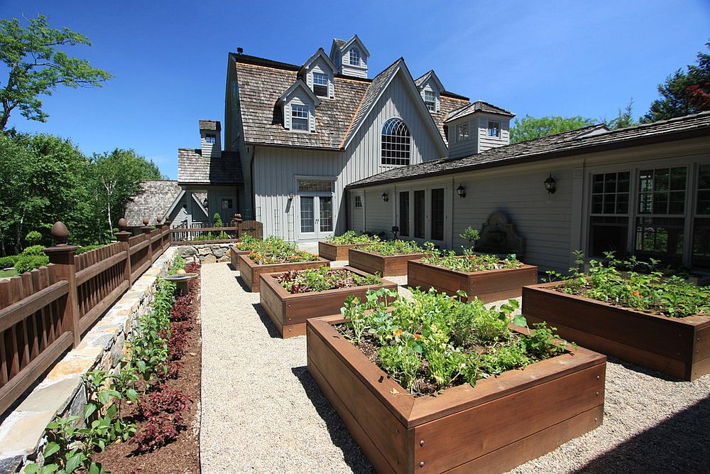 A series of reaised beds can help you with the organization of the edible garden