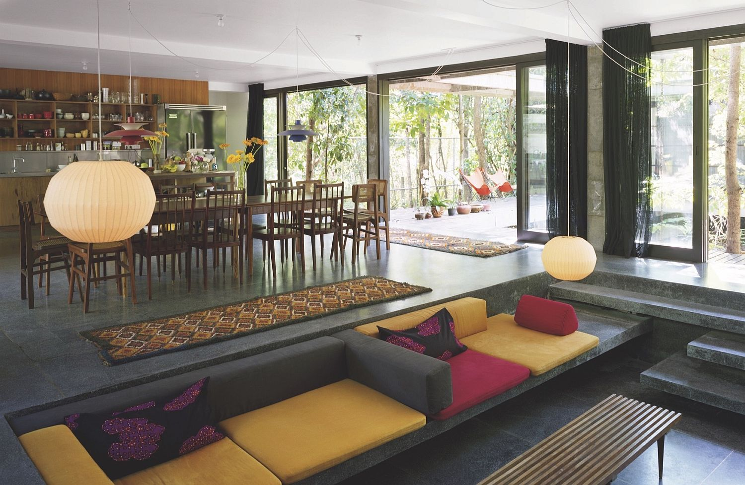 View in gallery colorful and open interior of the modern thai