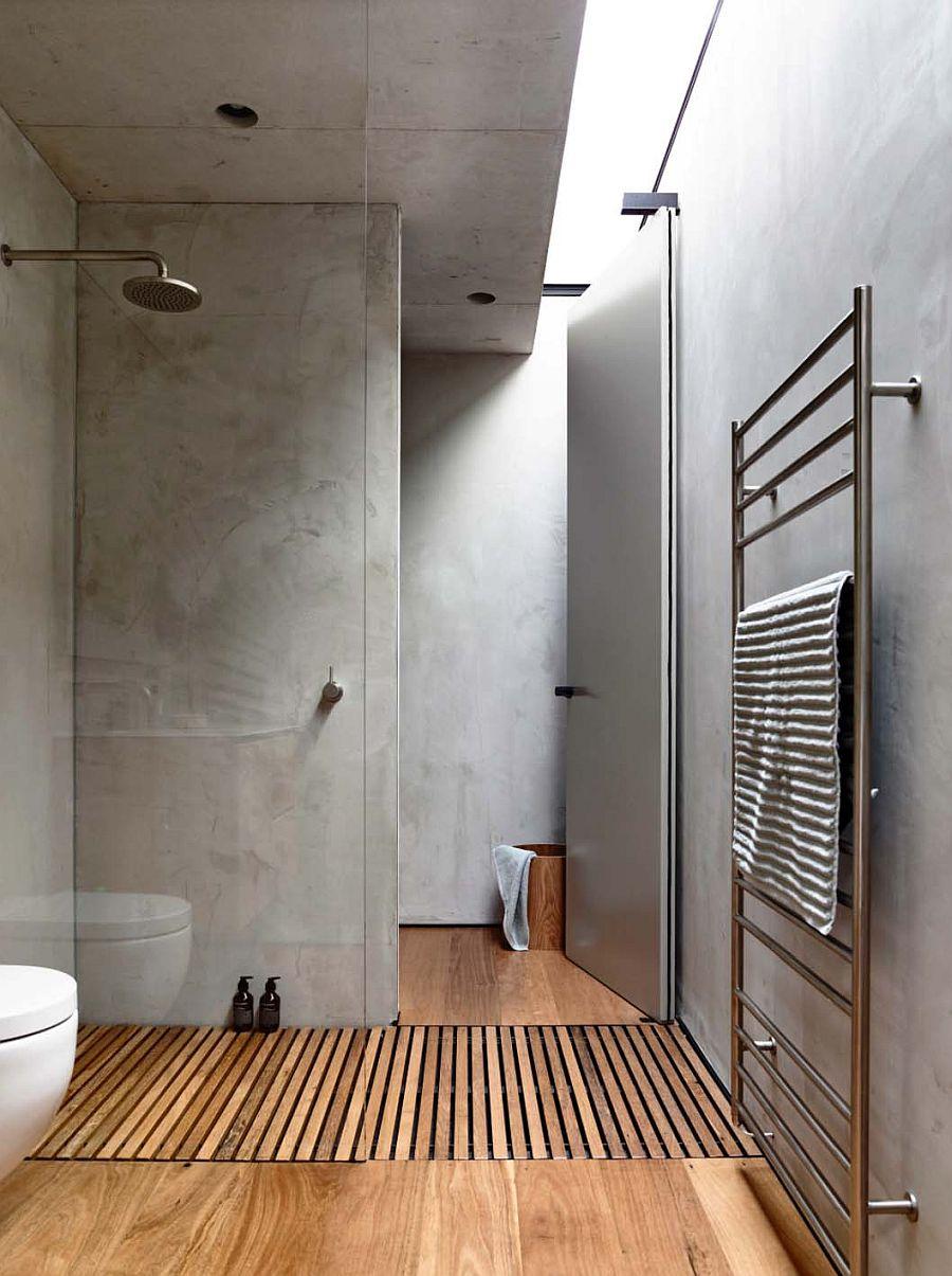 Concrete brings a sense of sleek minimalism to the contemporary bathroom