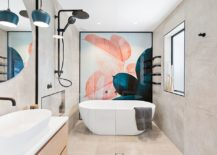 Contemporary-bathroom-with-feature-wall-that-steals-the-spotlight-217x155