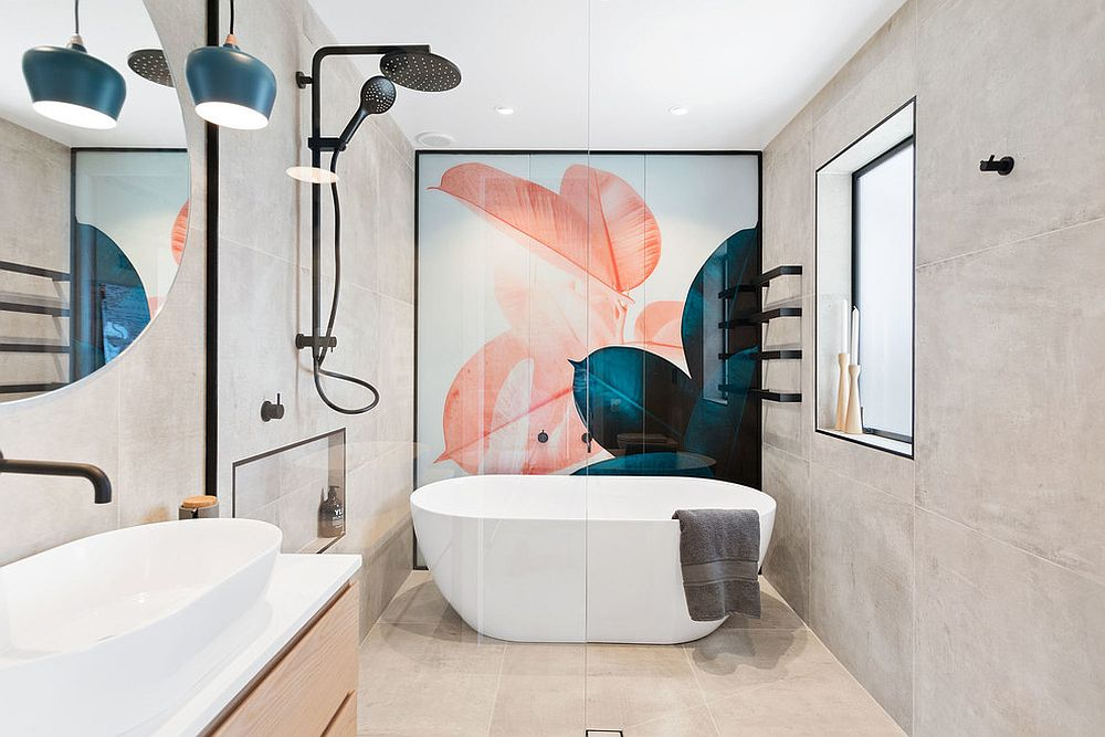 Contemporary-bathroom-with-feature-wall-that-steals-the-spotlight