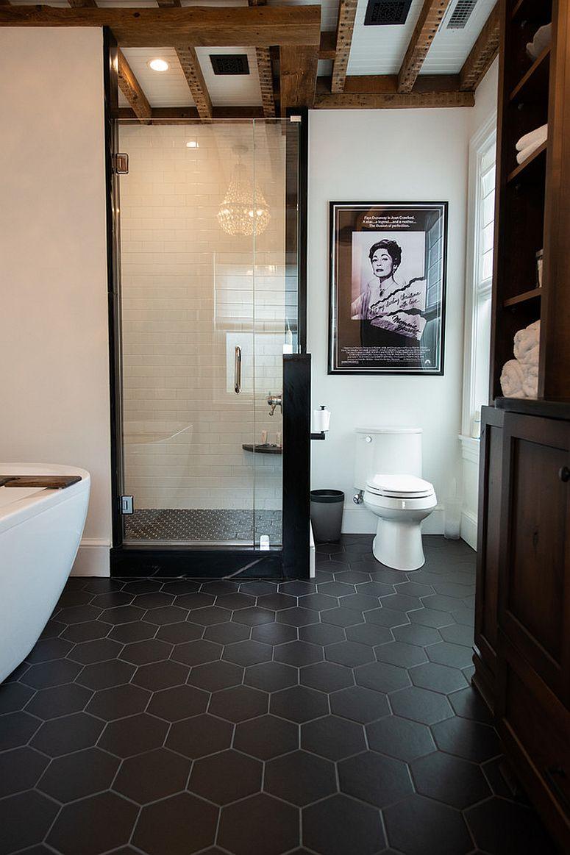 Dark-hexagonal-bathroom-tiles-for-the-modern-bathroom