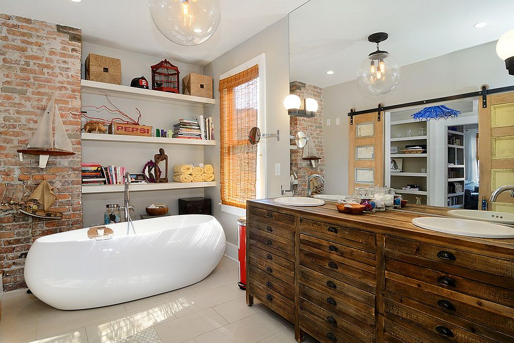 Eclectic-bathroom-feels-like-anything-but-one