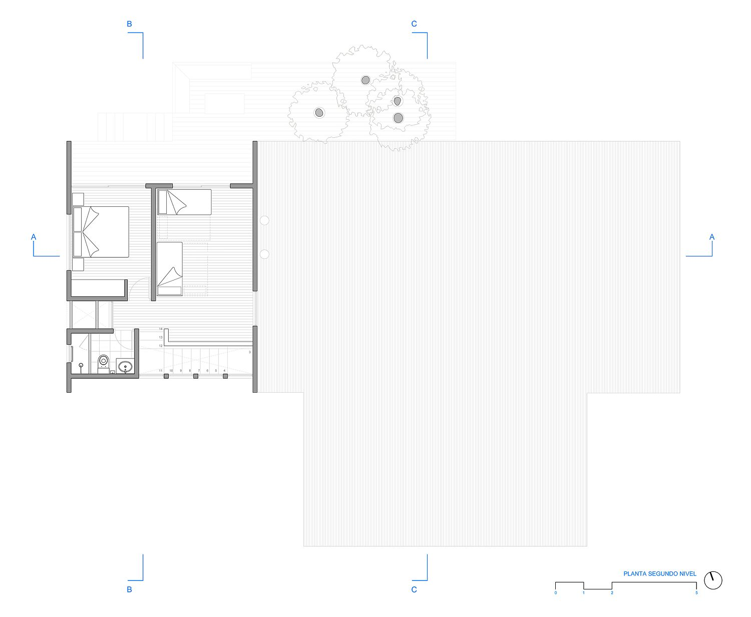 First floor plan of gorgeous Casa LM