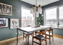 Gray-walls-bring-sophisticated-panache-to-the-tiny-dining-area-217x155