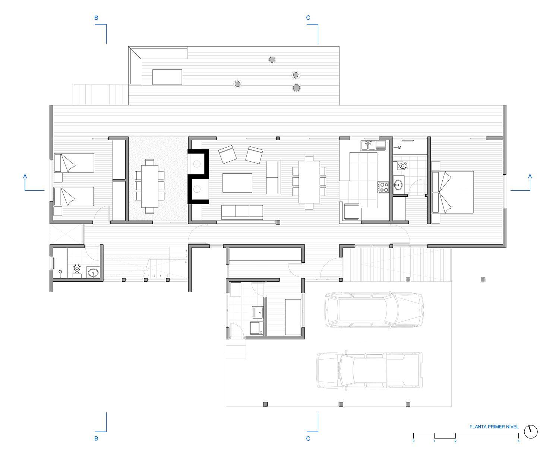Ground floor plan of Casa LM