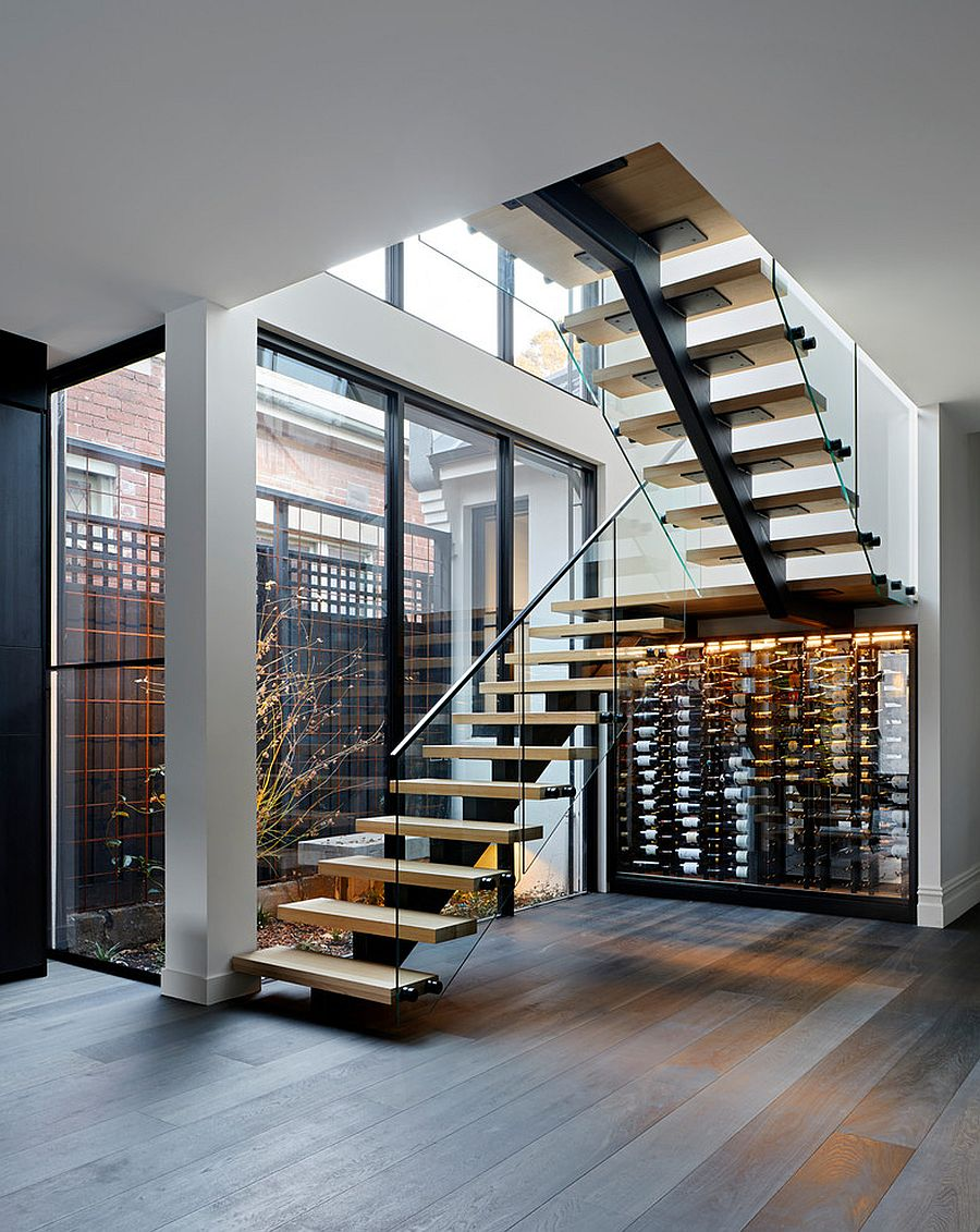 Lovely little wine cellar and storage area under the stairway