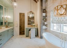 Rustic-bathroom-with-brass-accents-and-a-classic-vibe-217x155
