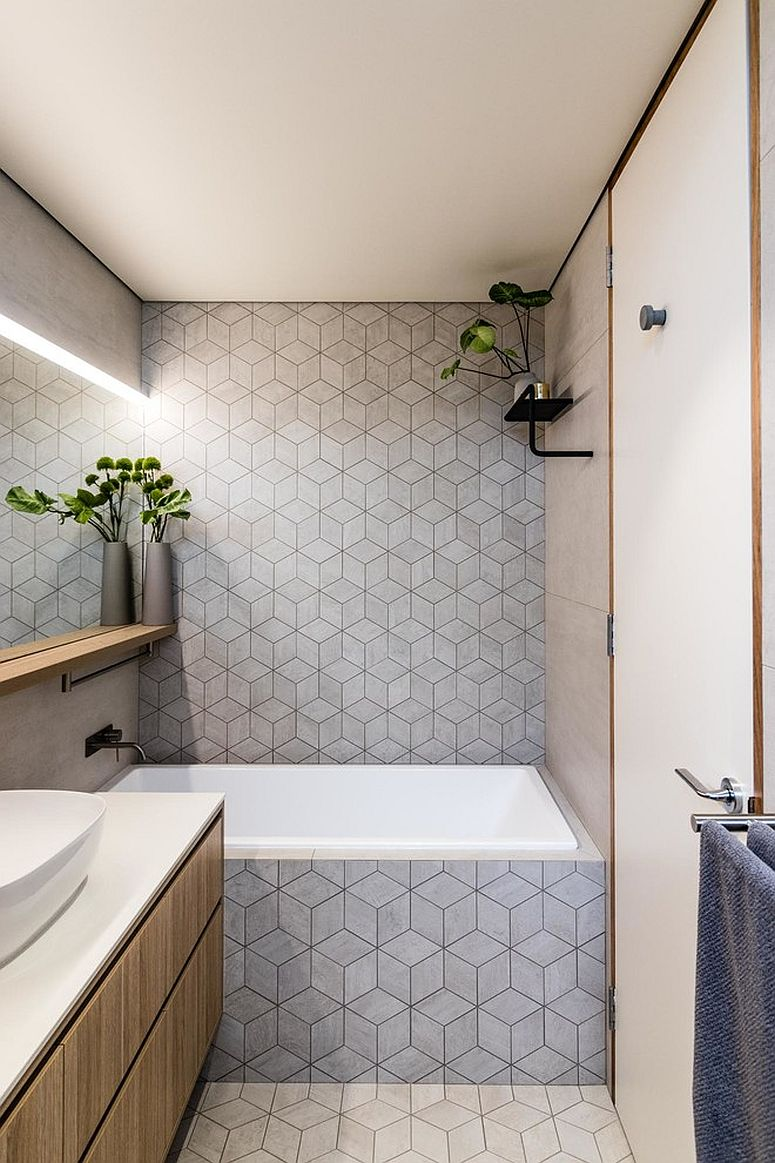 Smart-3D-style-tiled-backdrop-shapes-the-contemporary-bathroom