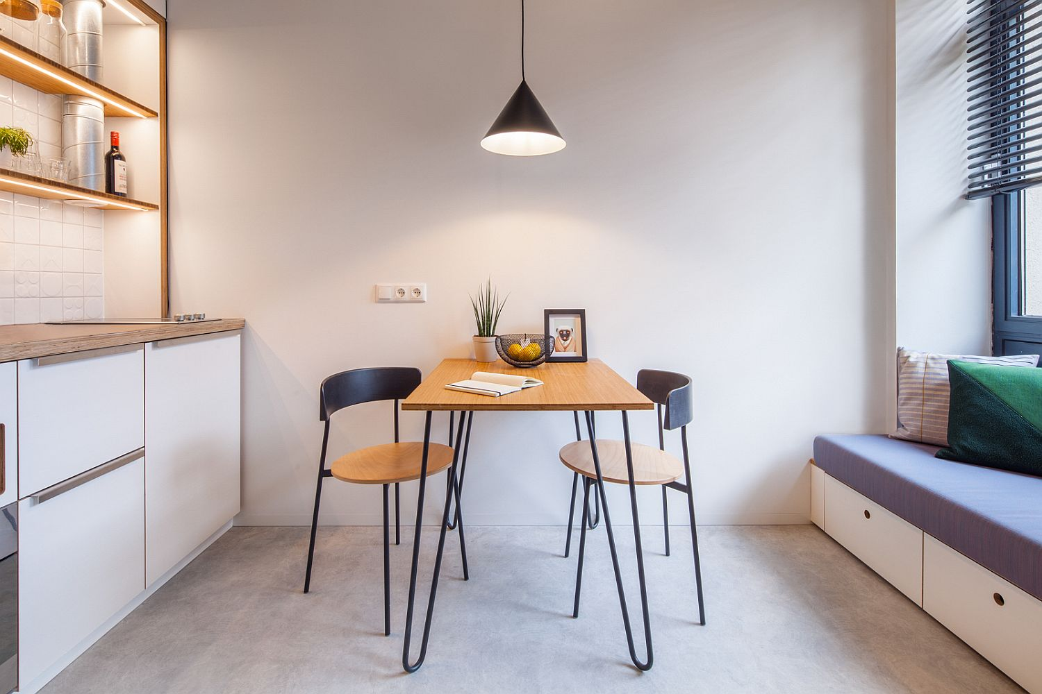 Cool 25 Tiny Apartment Dining Rooms That Save Space And Multitask Interior Design Ideas Tzicisoteloinfo