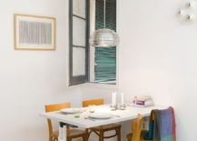 Using-the-wall-as-support-for-the-dining-table-saves-up-plenty-of-space-217x155