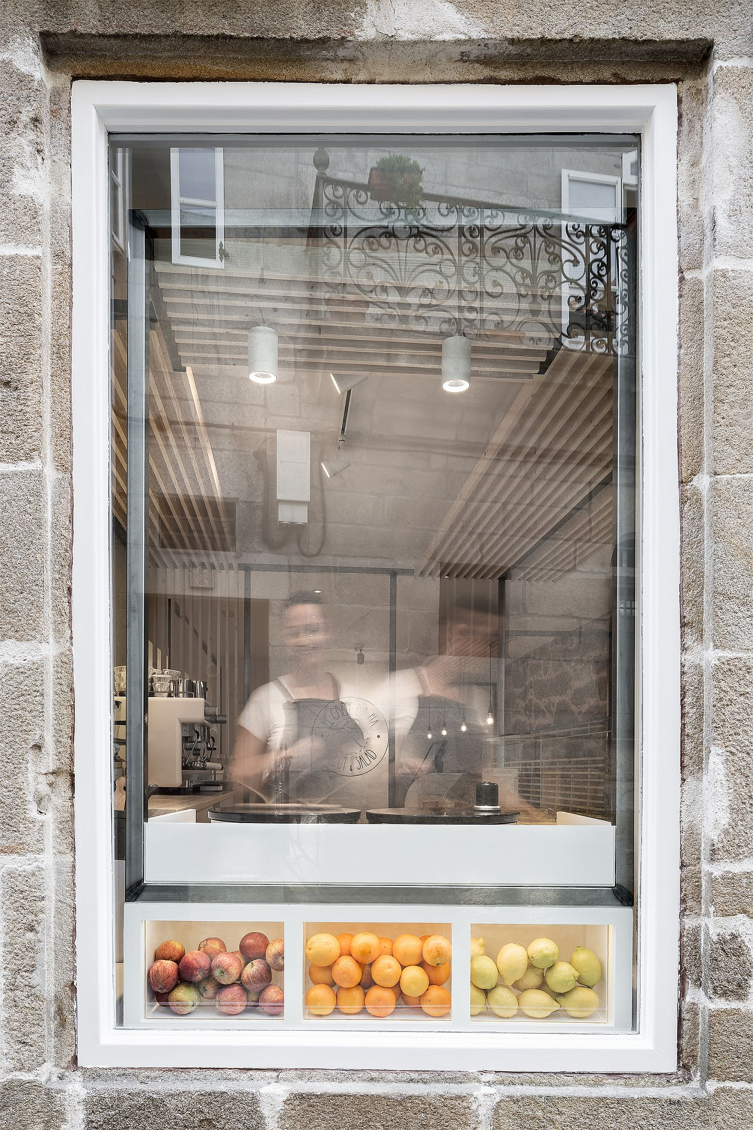 Windows towards the street showcase the making of delicacies inside