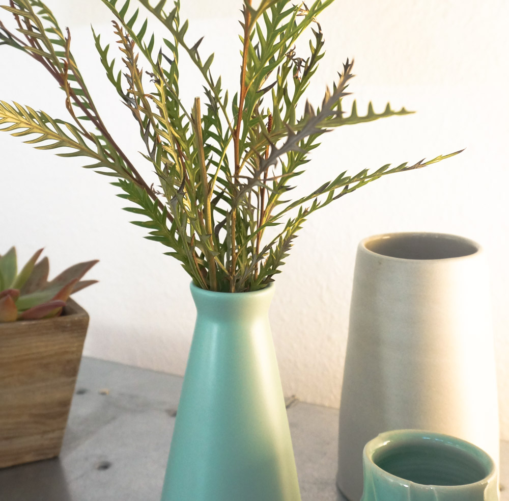 Affordable greenery in a modern vase