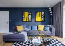 Beautiful-contemporary-living-room-in-blue-with-a-geo-rug-217x155