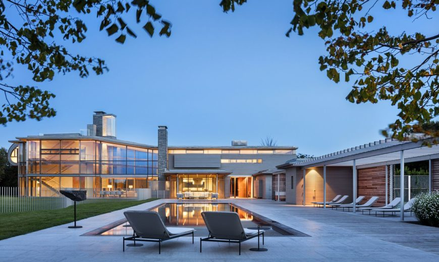 Spectacular Hamptons Residence: A Modern Window into a Scenic Landscape