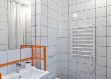 Black-and-white-floor-tiles-for-the-tiny-bathroom-in-light-gray-217x155