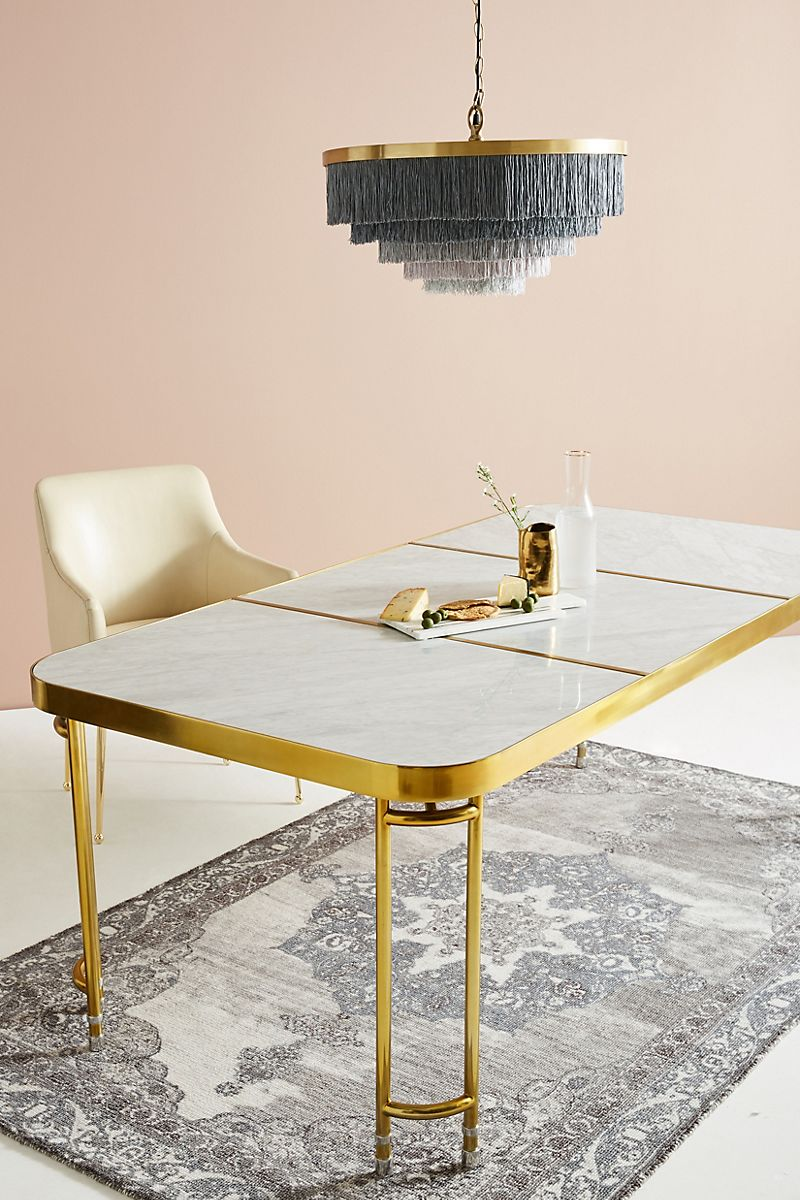 Brass dining table from Anthropologie