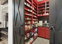 Bright-and-cheerful-pantry-in-red-with-dark-gray-doors-for-the-farmhouse-kitchen-217x155