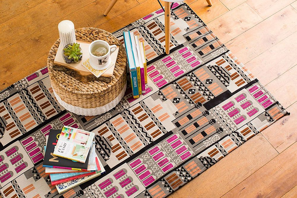 Cheap DIY homemade rug with plenty of pattern