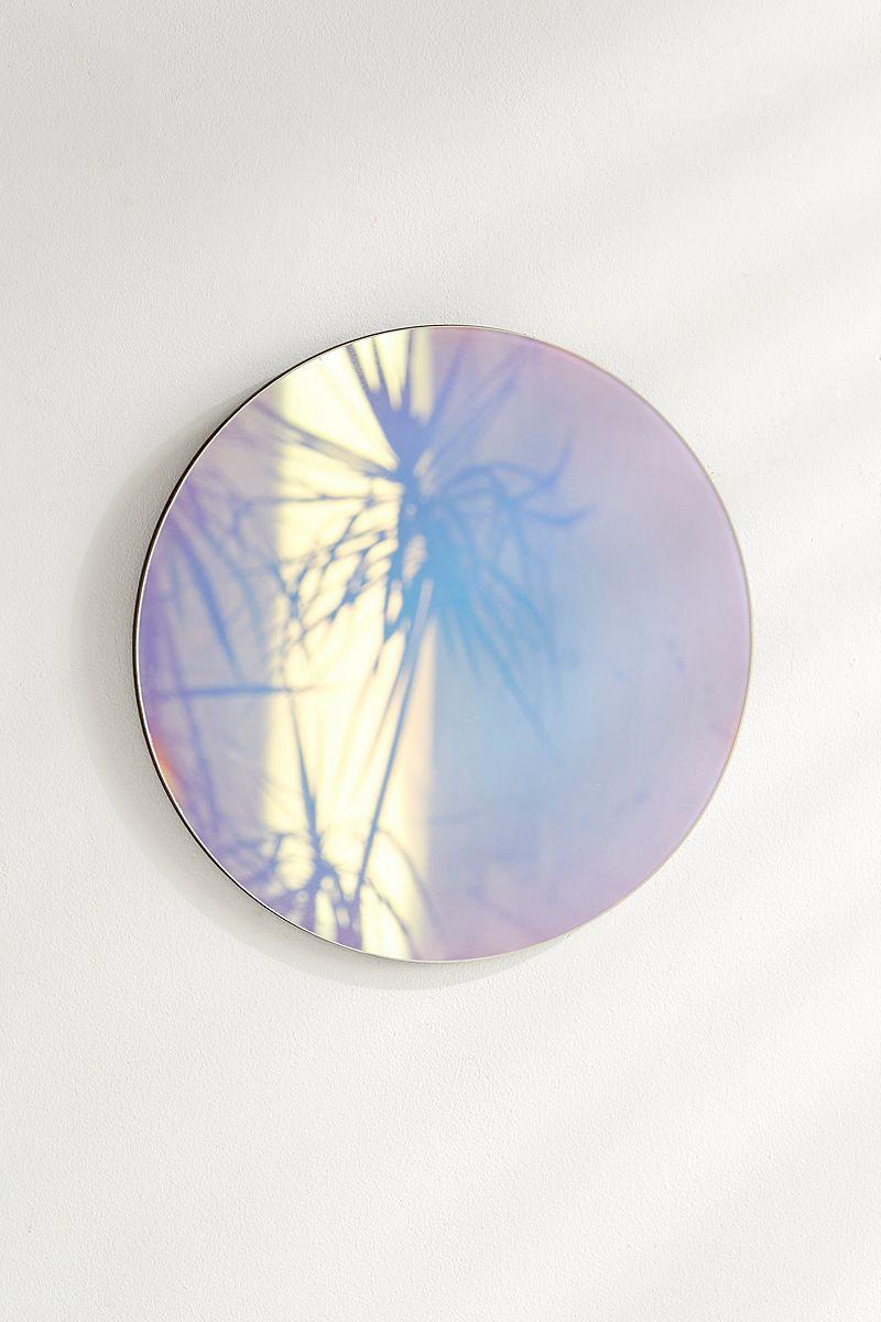 Circular iridescent mirror