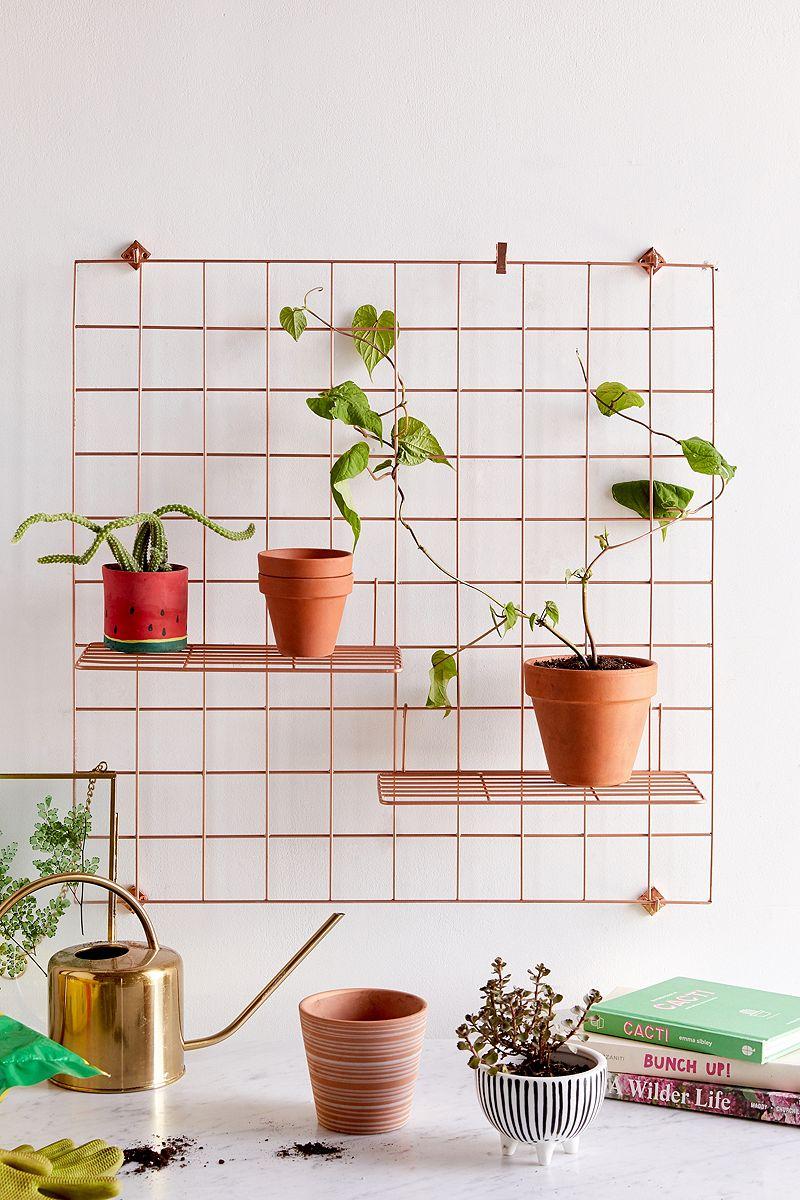 Copper metal wall grid