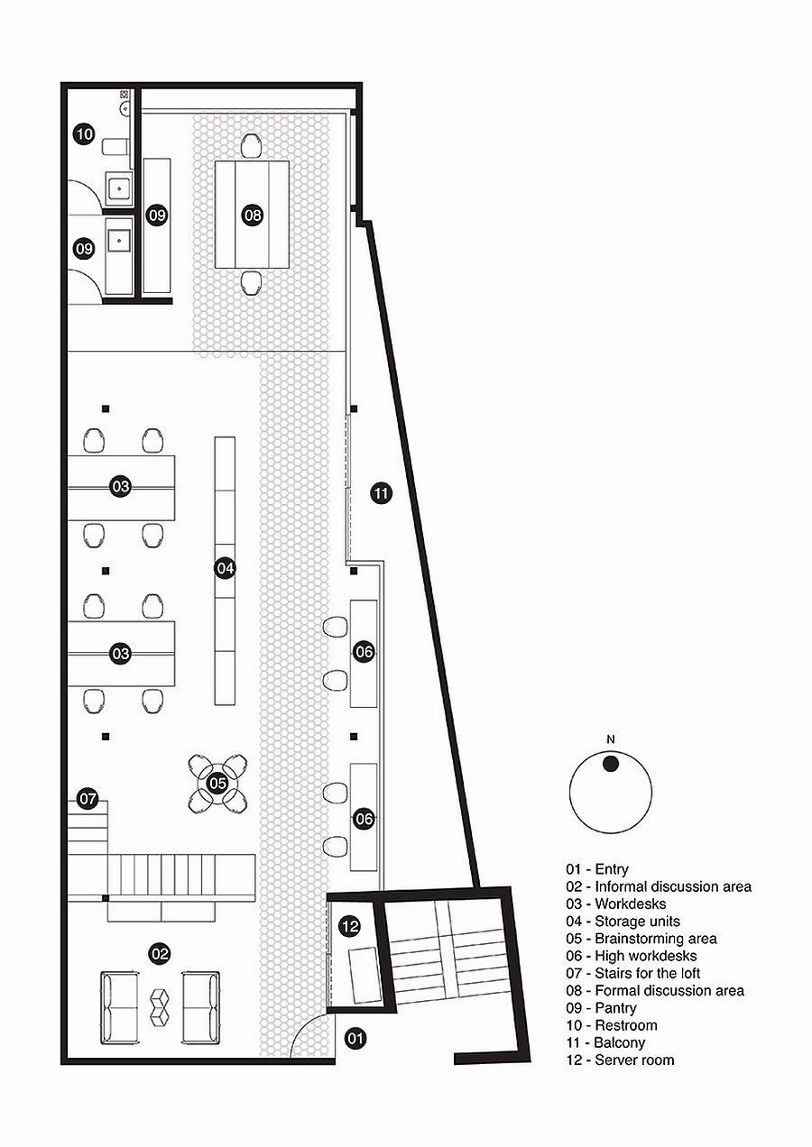 Floor plan of M9 Design Studio
