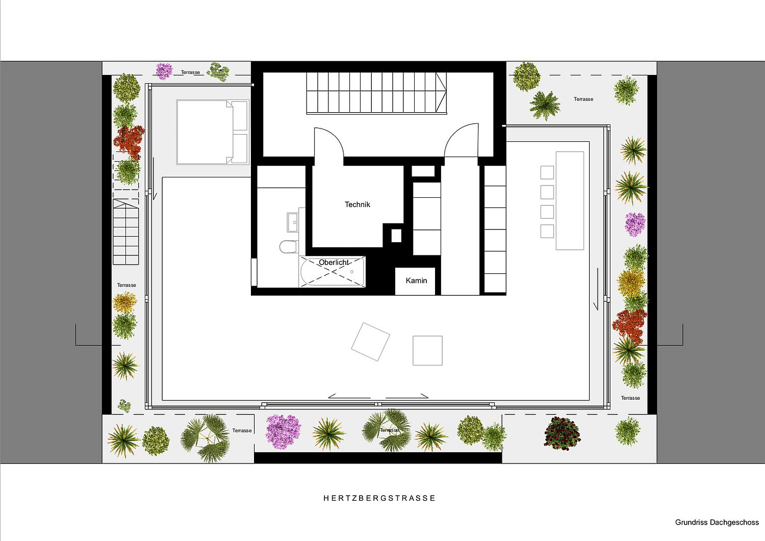 Floor plan of the Floating penthouse in Berlin