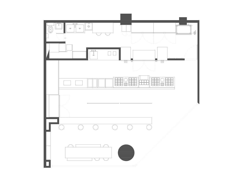 Floor plan of the new Nutrisa store