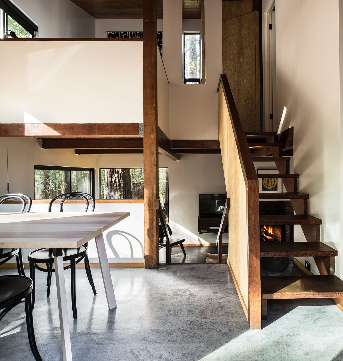 Gorgeous and modest interior of the Timber Ridge Sea Ranch Cabin