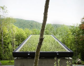 Cottage in Sutton: Dark Mountain Cottage with a Gorgeous Green Roof