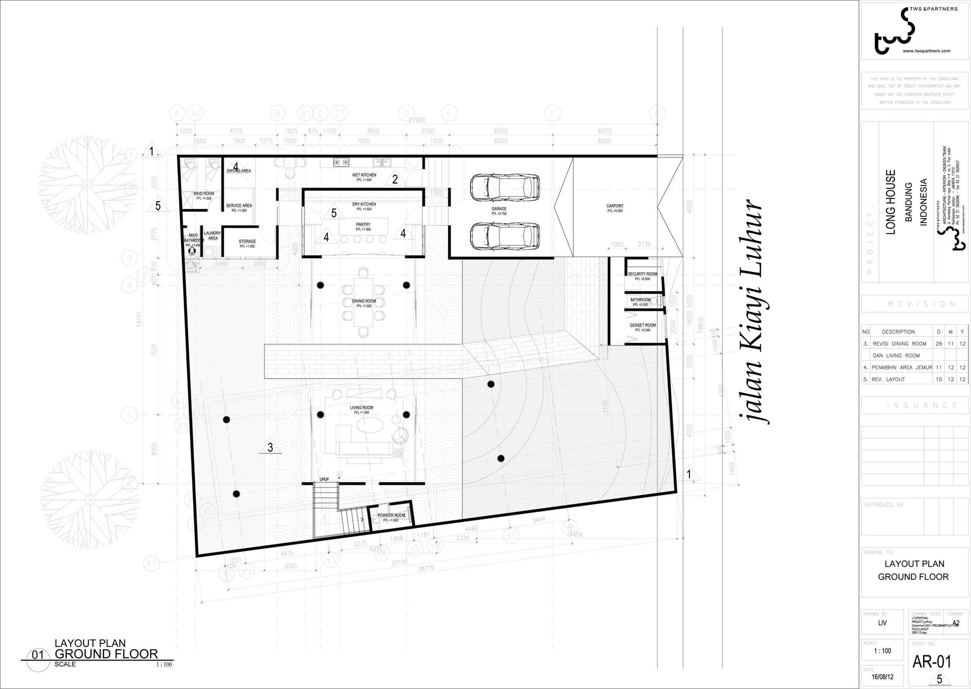 Ground floor plan of the Long House