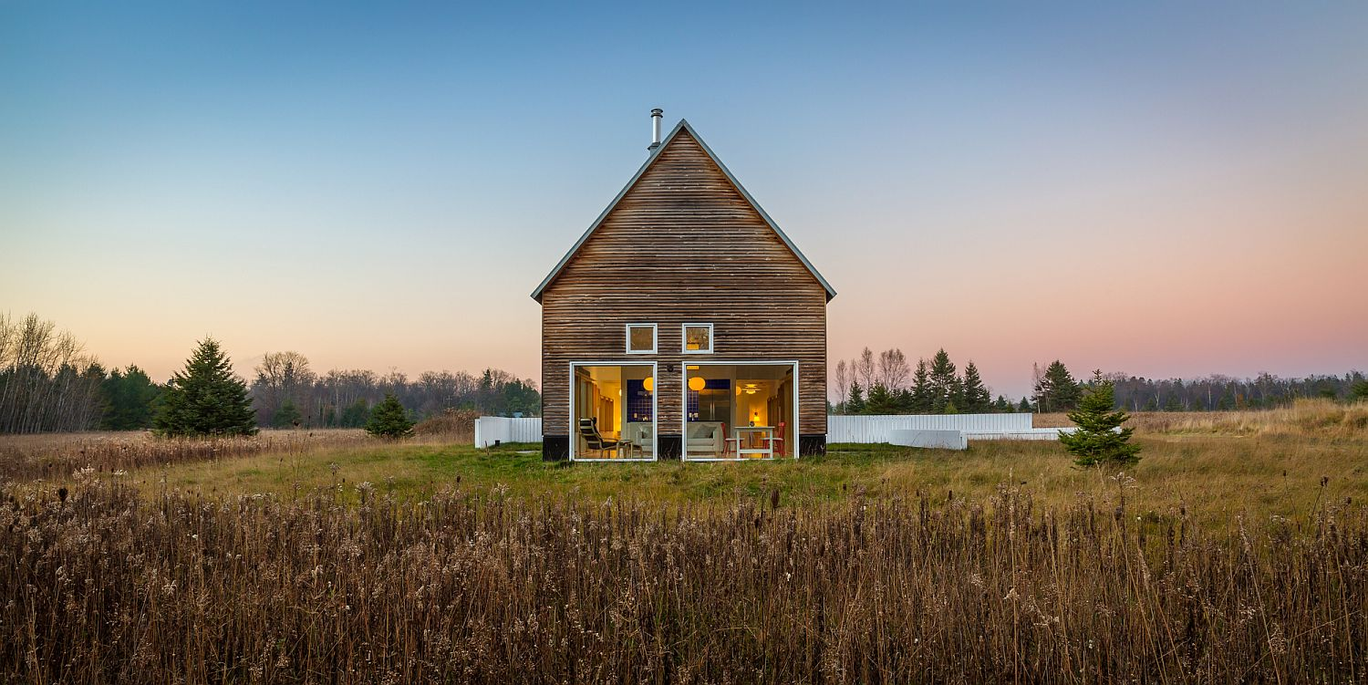 House of beth surrounded by fields in Wisconsin